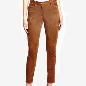 Tommy Hilfiger Faux-Suede Skinny Pants Size 0 Brow